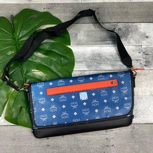 MCM messenger sling bag medium blue